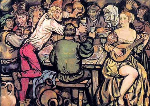 Главным героем фламандской литературы был пьяница, мошенник и сексуальный извращенец Тиль Уленшпигель. Иллюстрация Юрия Иванова