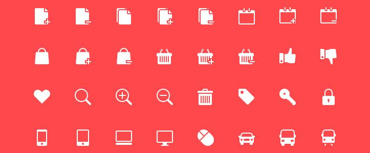 Solid Icons, форматы psd, png, svg и Webfont