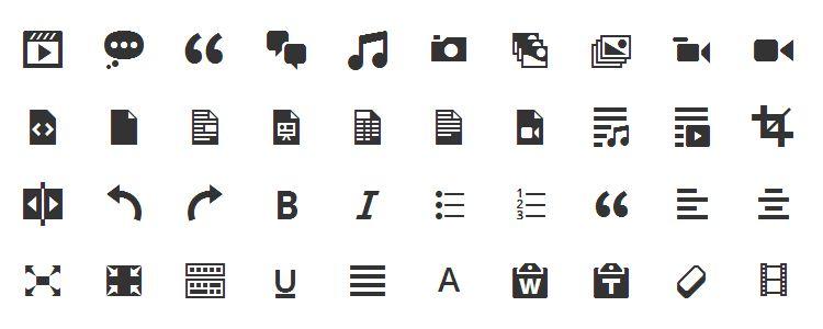 Официальный Icon Font WordPress