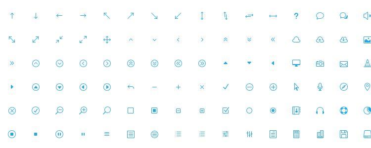 The Elegant Icon Font, 360иконок