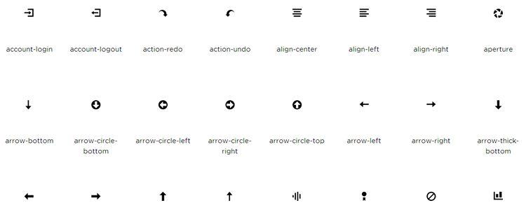 Open Iconic — хорошо читабельный шрифт с иконками