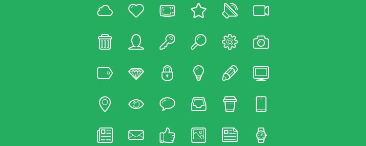 Linecons Free — бесплатный In-Line Icon Font