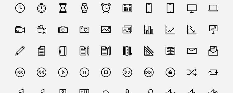 Outlined Icons от Dario Ferrando