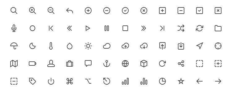 Feather Icon Set — простой и красивый Icon Font