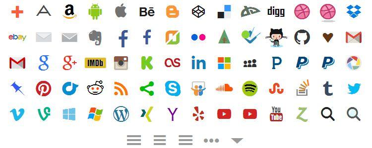 Socialicious — библиотека социальных медиа-иконок
