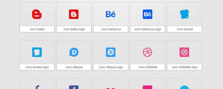 Mono Social — шрифт с иконками на основе набора Mono Social