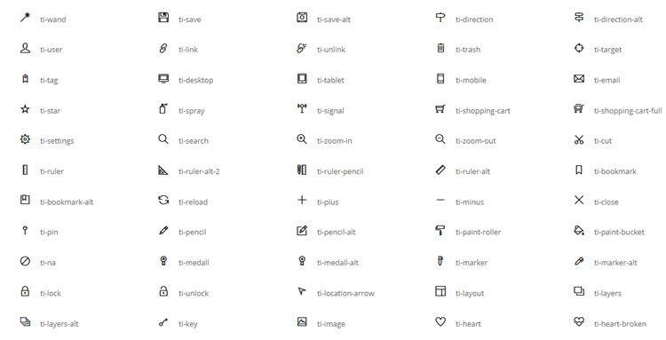 Themify 320+иконок в форматах SVG, WebFont, бесплатно