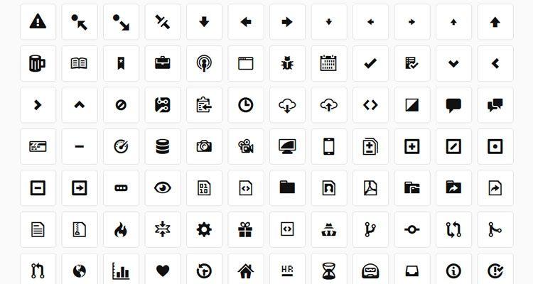 Octicons 178иконон в формате WebFont, халява на GitHub