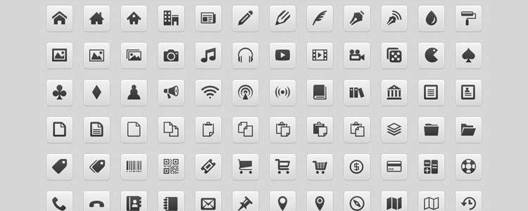 IcoMoon — бесплатный пакет, 450иконок