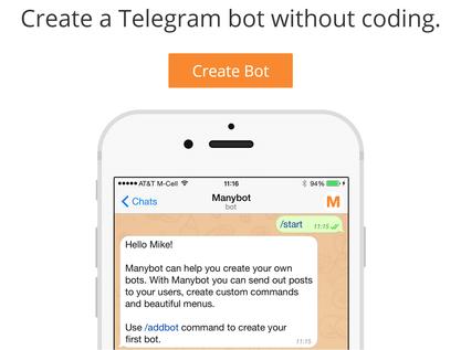 Как создать bot telegram
