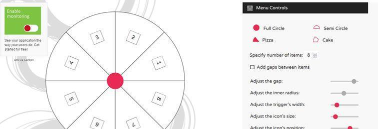 Генератор круглого SVG-меню