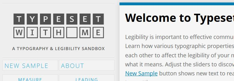 A web-based typography and legibility sandbox