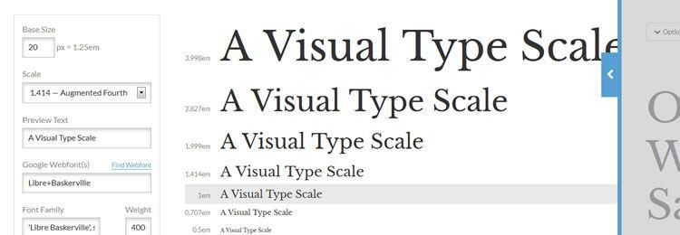 Визуальный калькулятор типографики