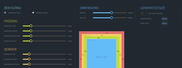 Полноценное приложение для помощи в визуализации и создании box-model