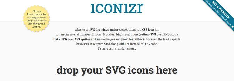 Инструмент для преобразования картинок SVG в набор иконок CSS
