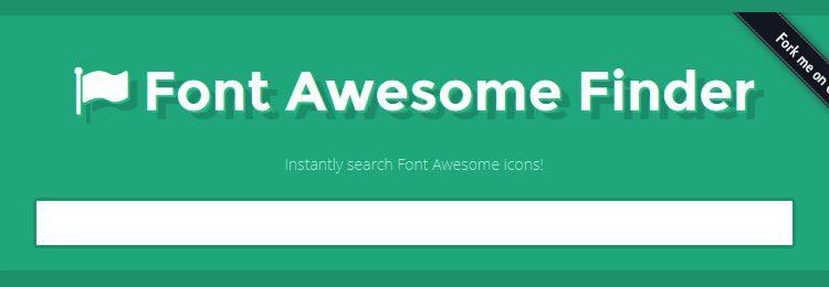 Мгновенный поиск иконок FontAwesome