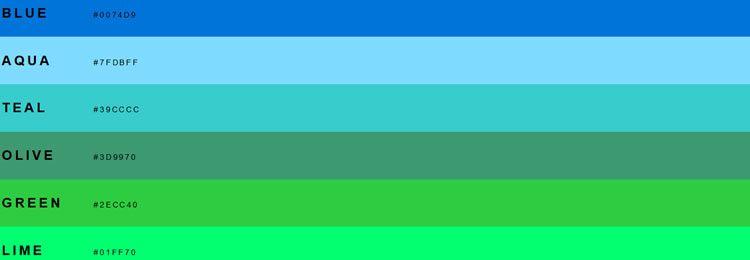 SASS/LESS/Stylus/CSS переменные для CSS и CSS-классов с лучшими цветовую палитру для веб