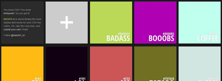 An app for finding the most badass leet words for your CSS hex colors