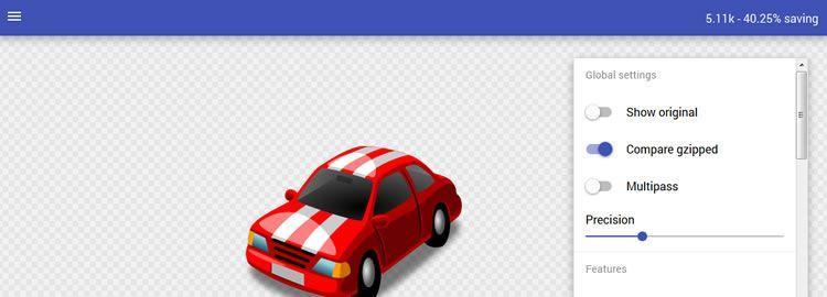 Web-приложение для оптимизации и настройки SVGO