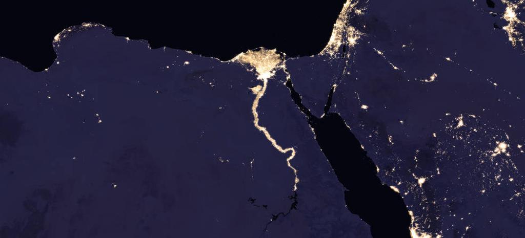 Опубликованы новые карты ночной Земли
