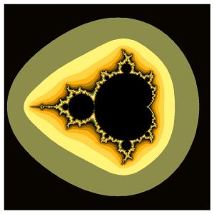 Измененная палитра множества Мандельброта