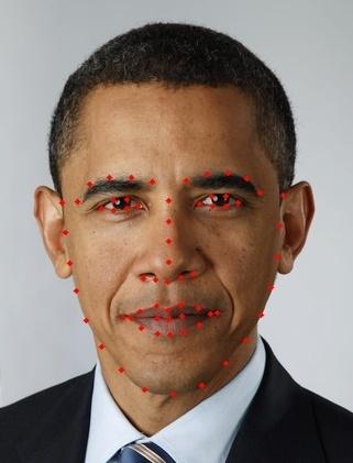 Рисунок 3 — Пример обнаружения черт лица