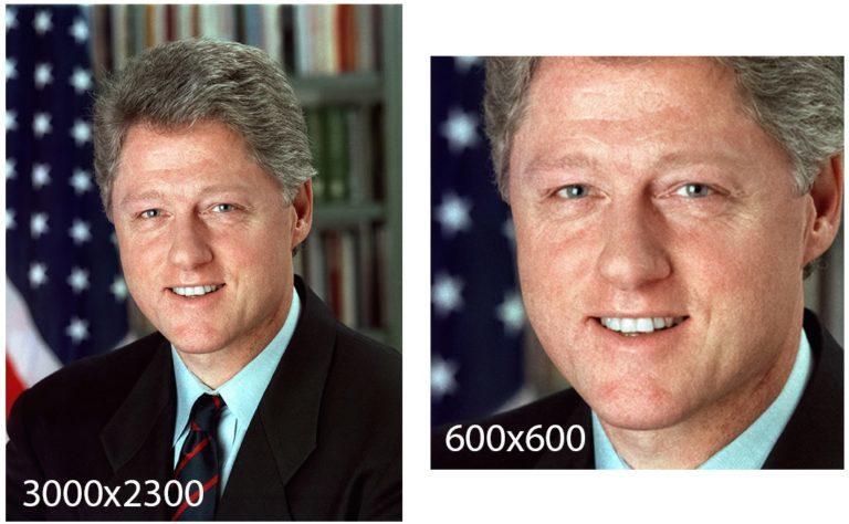 Рисунок 4 — Преобразование подобия используется для превращения исходного изображения размером 3000×2300 в конечное размером 600×600