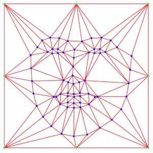 Рисунок 6 — Вычисление триангуляции Делоне для усредненных контрольных точек