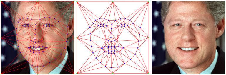 Рисунок 7 — Деформация изображения на базе триангуляции Делоне