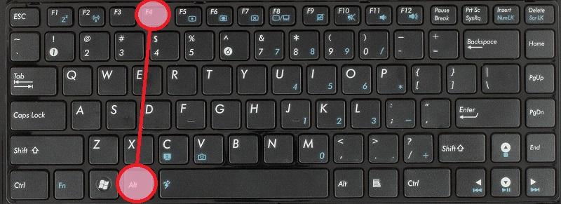 Alt+F4 - помогает быстро закрыть окно или программу