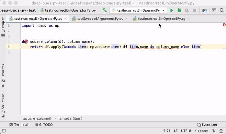 DeepBugs может обнаруживать ошибки