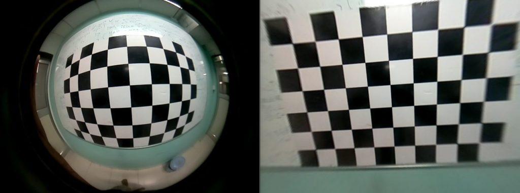 Влияние геометрической коррекции на искажение изображения
