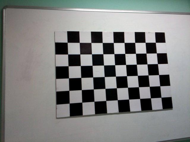 Мировая система координат: наши мировые координаты связываются с шаблоном шахматной доски, который закреплён на стене комнаты.