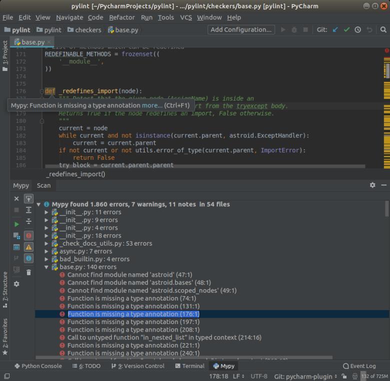 Mypy — дополнительный анализатор для статической проверки исходного кода Python