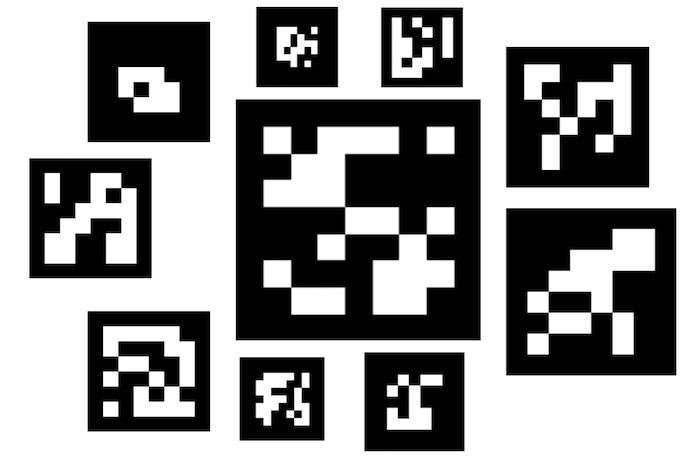 Примеры маркеров ArUco