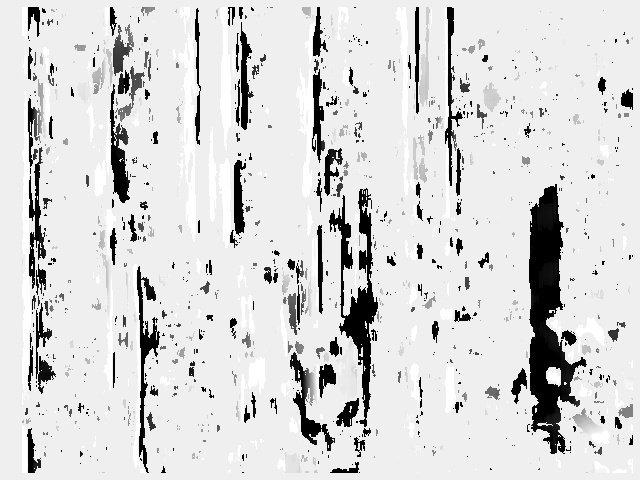 Рисунок 4 - Карта диспаратности, созданная с использованием правого и левого изображений без стереокалибровки
