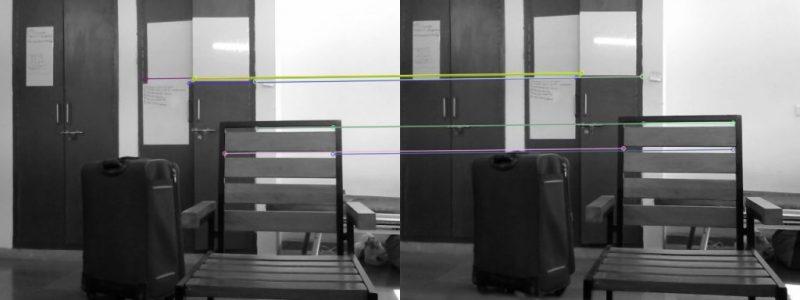 Рисунок 5 - Отображение совпадений между соответствующими точками.