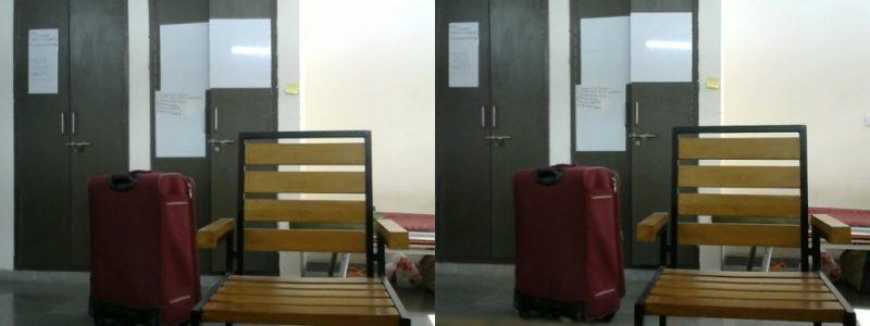 Рисунок 3 - Левое и правое изображения, снятые с помощью стереокамеры.